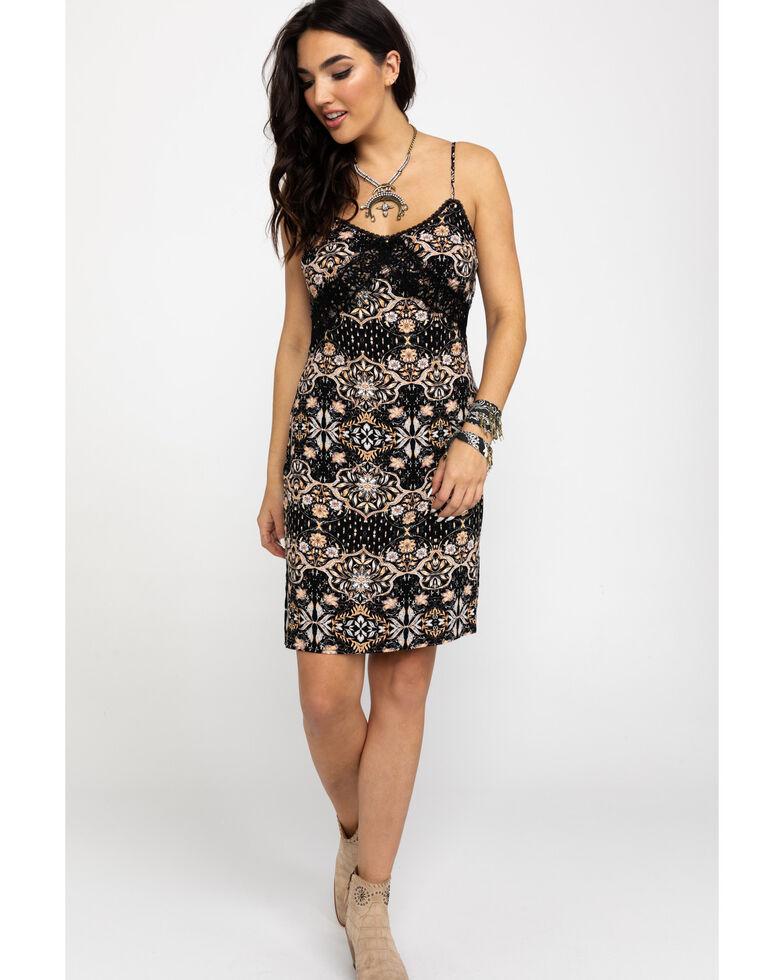 Idyllwind Women's Sun-Tea Slip Dress , Black, hi-res