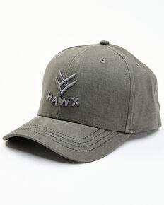 Hawx Men's Grey Embroidered Logo Solid-Back Ball Cap , Grey, hi-res