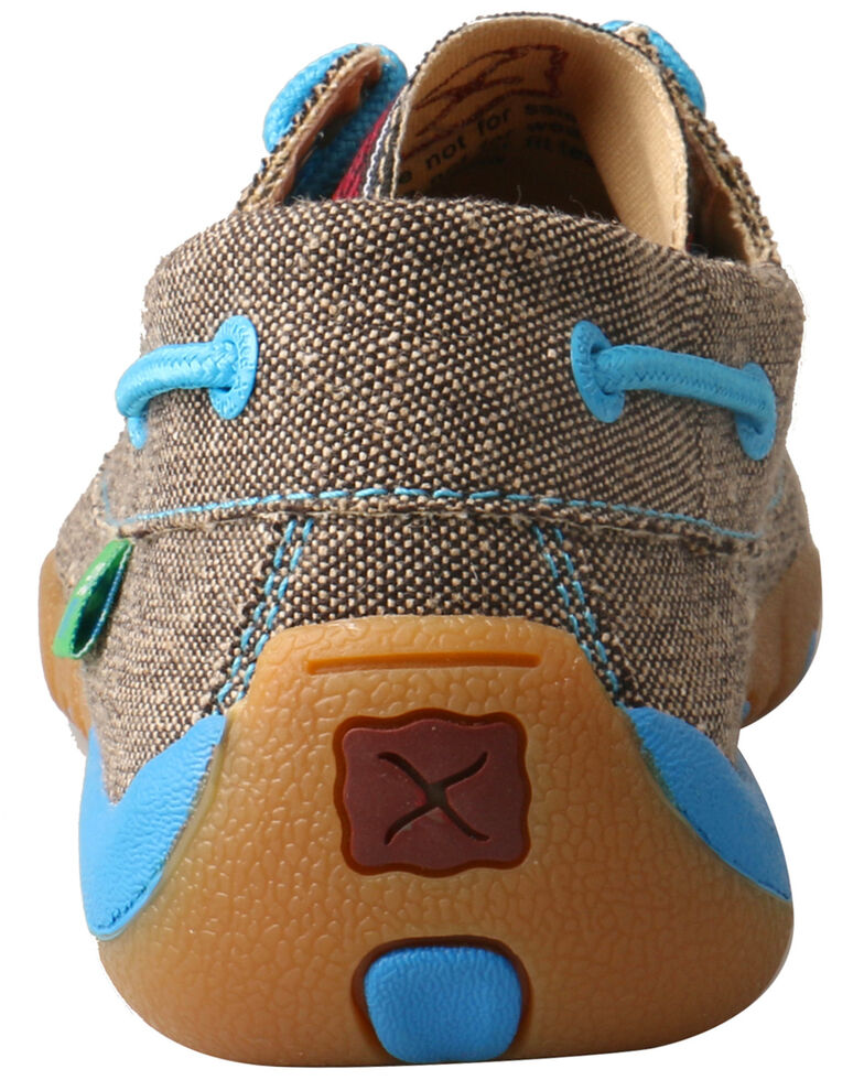 Twisted X Women's Serape Driving Shoes - Moc Toe, Grey, hi-res