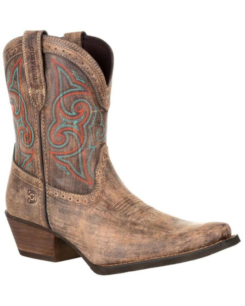 Durango Women's Driftwood Western Booties - Snip Toe, Brown, hi-res