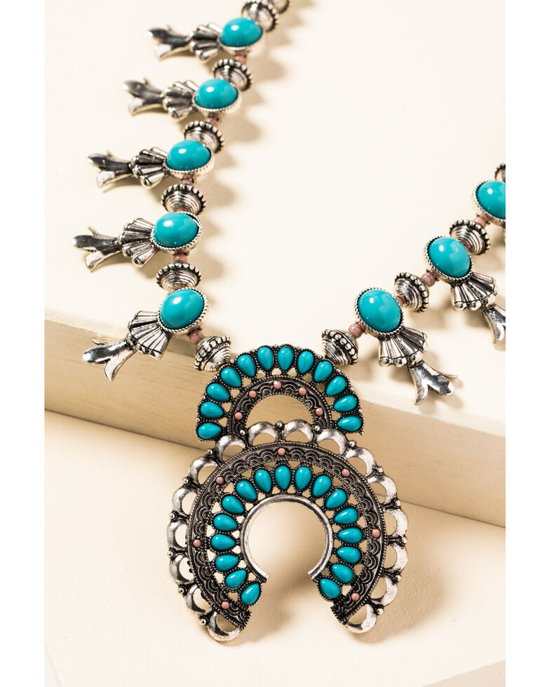 Shyanne Women's In The Oasis Squash Blossom Necklace, , hi-res