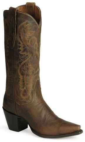 Dan Post Dirty Bull Cowgirl Boots - Snip Toe, Bay Brown, hi-res