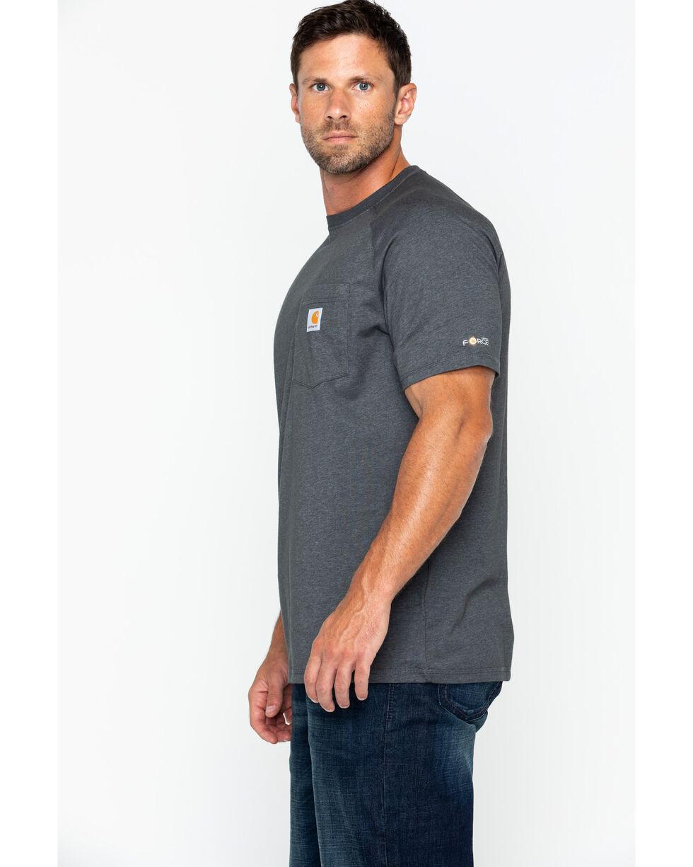 Carhartt Men's Force Cotton Short Sleeve Shirt, Charcoal Grey, hi-res