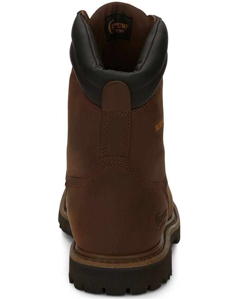 "Chippewa Heavy Duty Waterproof & Insulated Aged Bark 8"" Work Boots - Round Toe, Bark, hi-res"