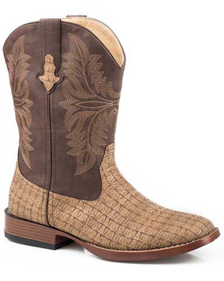 Roper Girls' Chomp Western Boots - Square Toe, Tan, hi-res