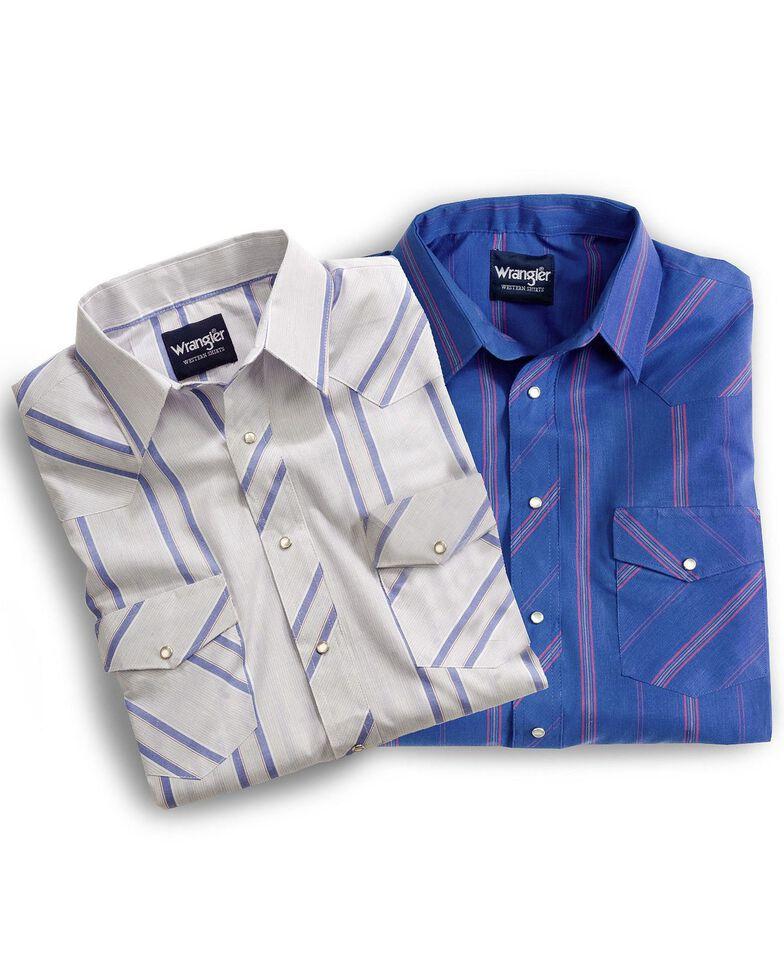 Wrangler Men's Assorted Plaid & Striped Short Sleeve Western Shirts - Big & Tall, Plaid, hi-res
