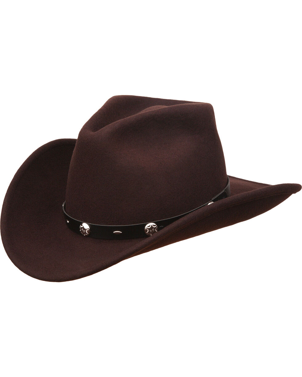 Silverado Men's Rattler Chocolate Wool Crushable Hat, Chocolate, hi-res