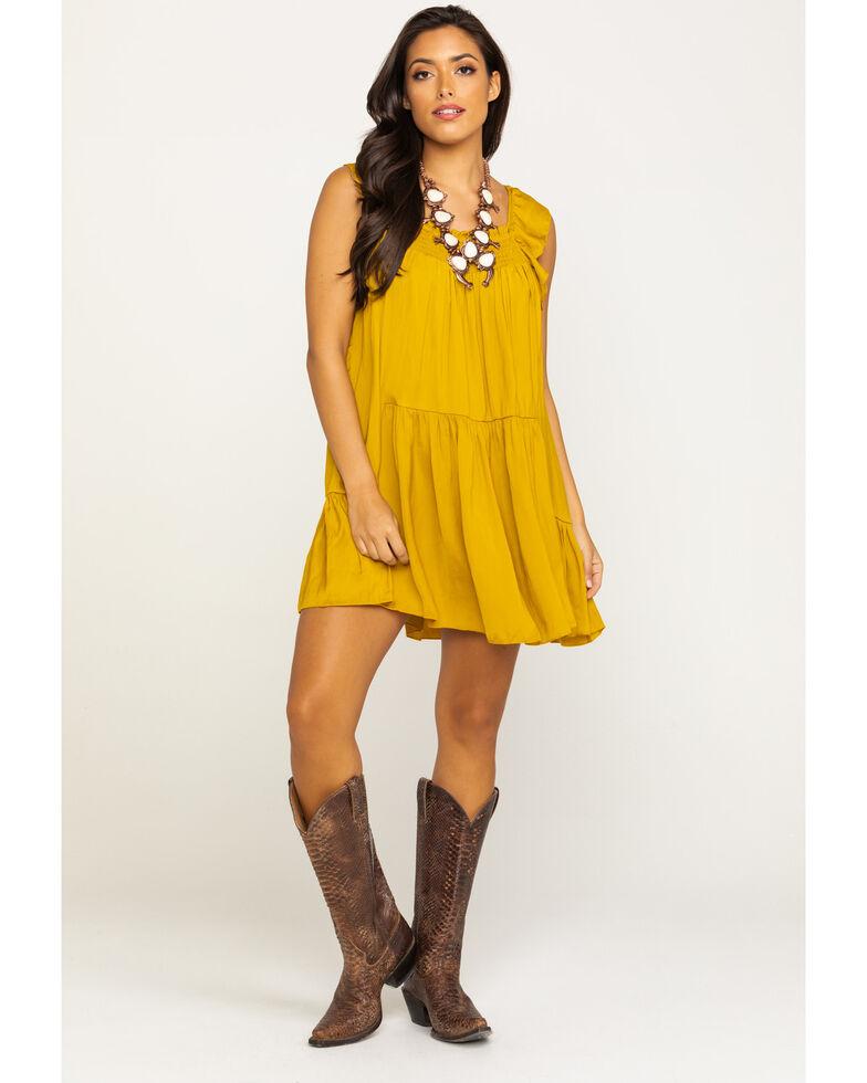 Free People Women's Want Your Love Mini Dress, Dark Yellow, hi-res
