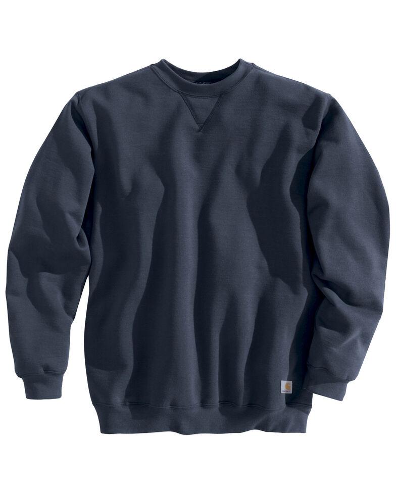 Carhartt Midweight Crew Neck Sweatshirt, Navy, hi-res