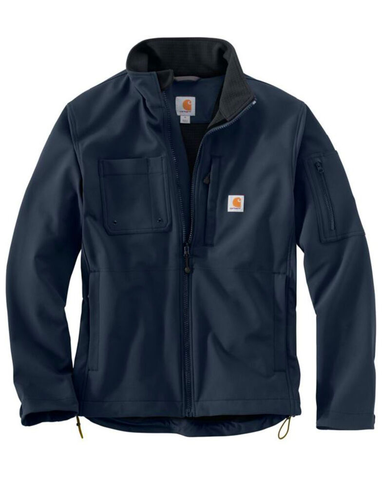 Carhartt Men's Navy Rough Cut Jacket -Tall, Navy, hi-res