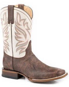 Roper Men's Brown Parker Western Boots - Square Toe, Brown, hi-res