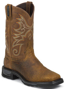 Tony Lama Sierra Badlands TLX Western Waterproof Work Boots - Composite Toe , Brown, hi-res