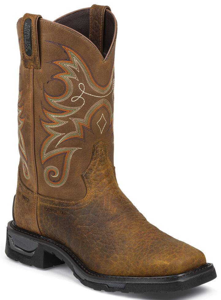 Tony Lama Sierra Badlands TLX Western Waterproof Work Boots - Composite Toe , Brown, hi-res