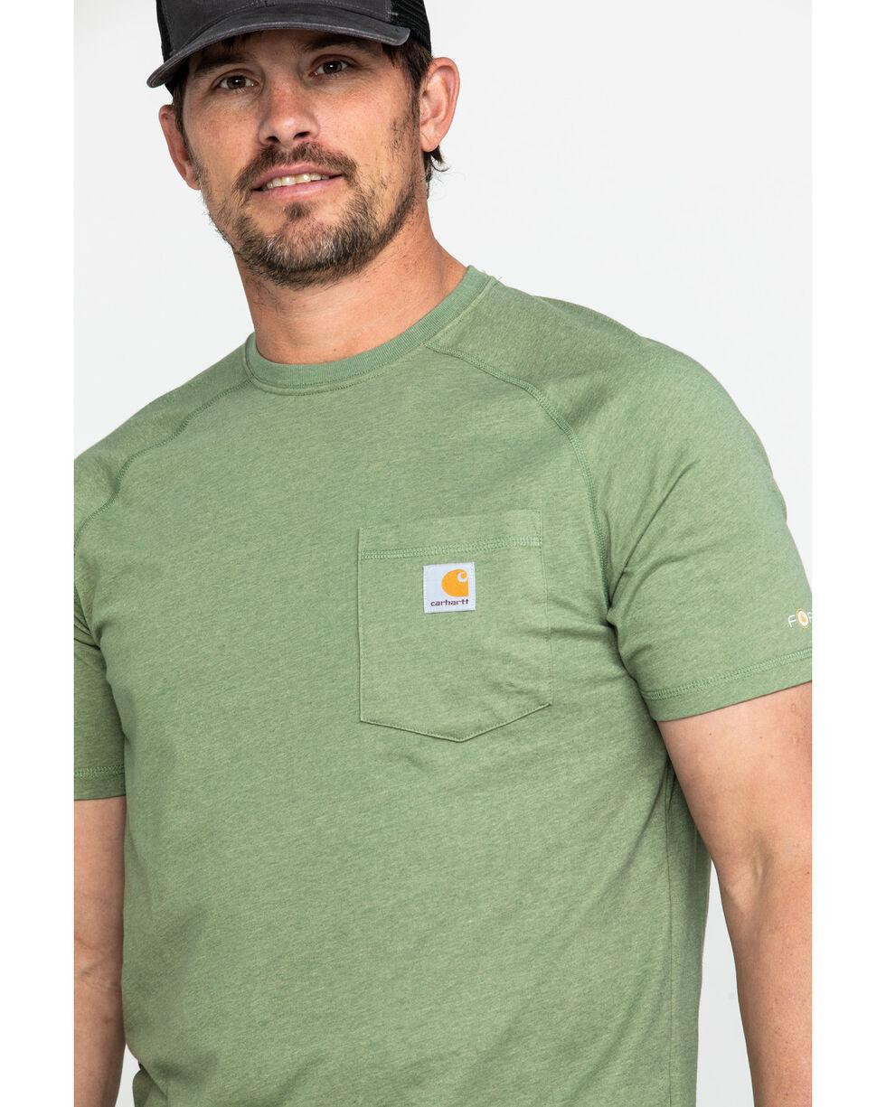 Carhartt Men's Force Cotton Delmont Graphic Work T-Shirt , Heather Green, hi-res