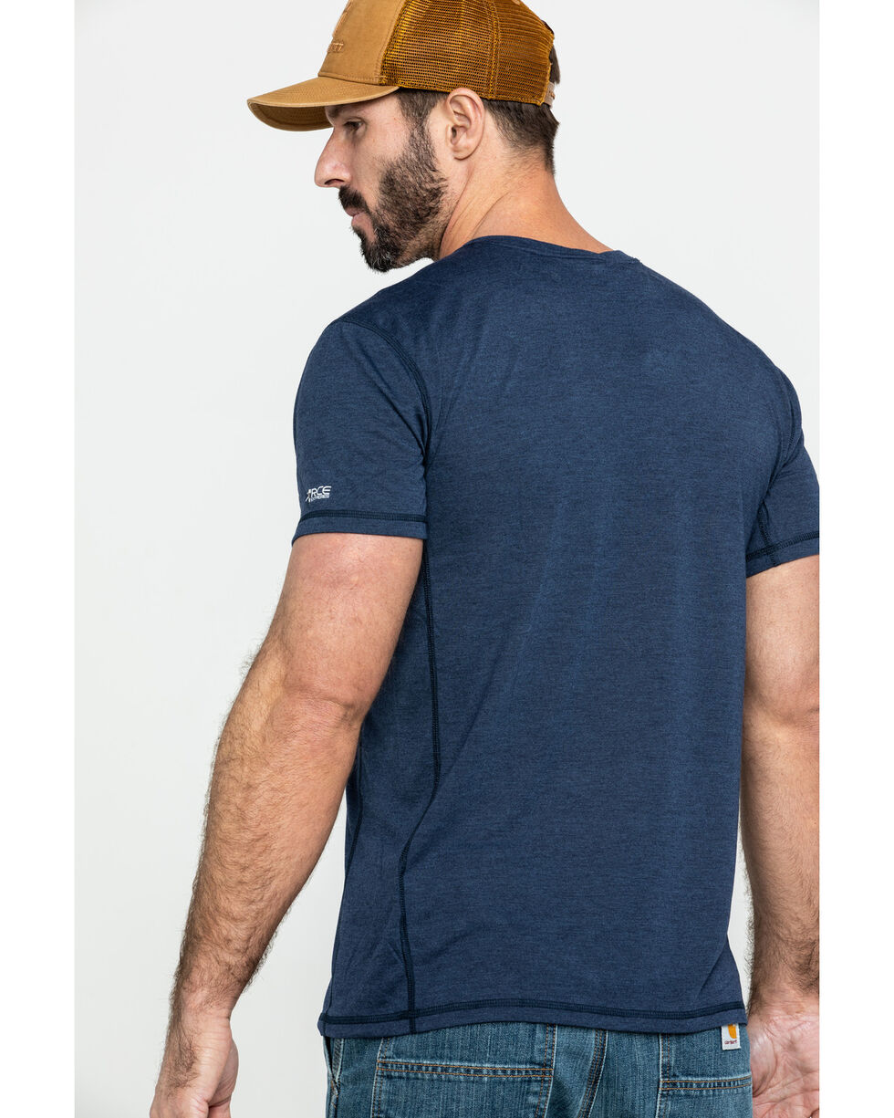 Carhartt Men's Navy Force Extremes Lightweight Work T-Shirt - Big , Navy, hi-res