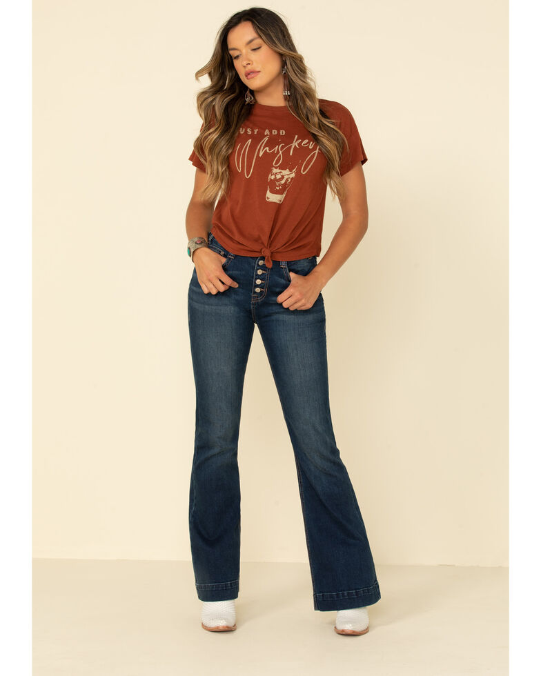 Shyanne Women's Rust Shot Of Whiskey Graphic Tee , Rust Copper, hi-res