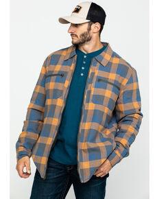 Hawx Men's Khaki Sherpa Lined Plaid Zip Front Work Shirt Jacket , Beige/khaki, hi-res