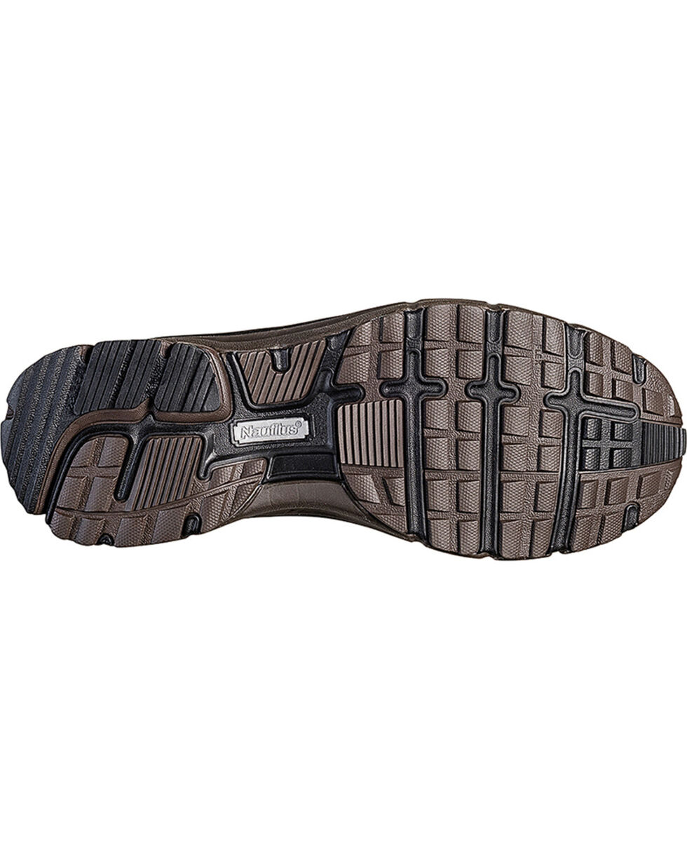 Nautilus Men's ESD Slip On Casual Shoes - Steel Toe , Brown, hi-res