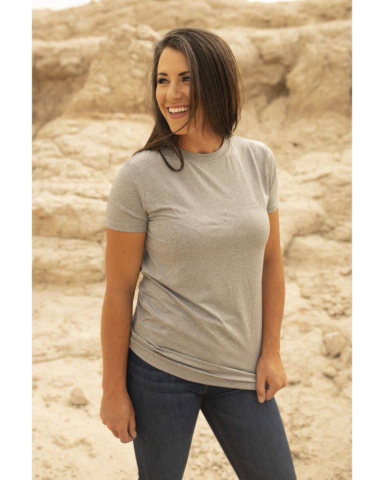 Kimes Ranch Women's Grey Outlier Tech Short Sleeve Tee, Grey, hi-res