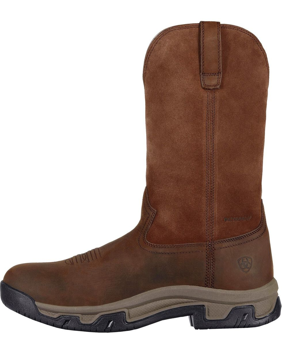 Ariat Men's Terrain H2O Pull-On Boots - Round Toe, Distressed, hi-res