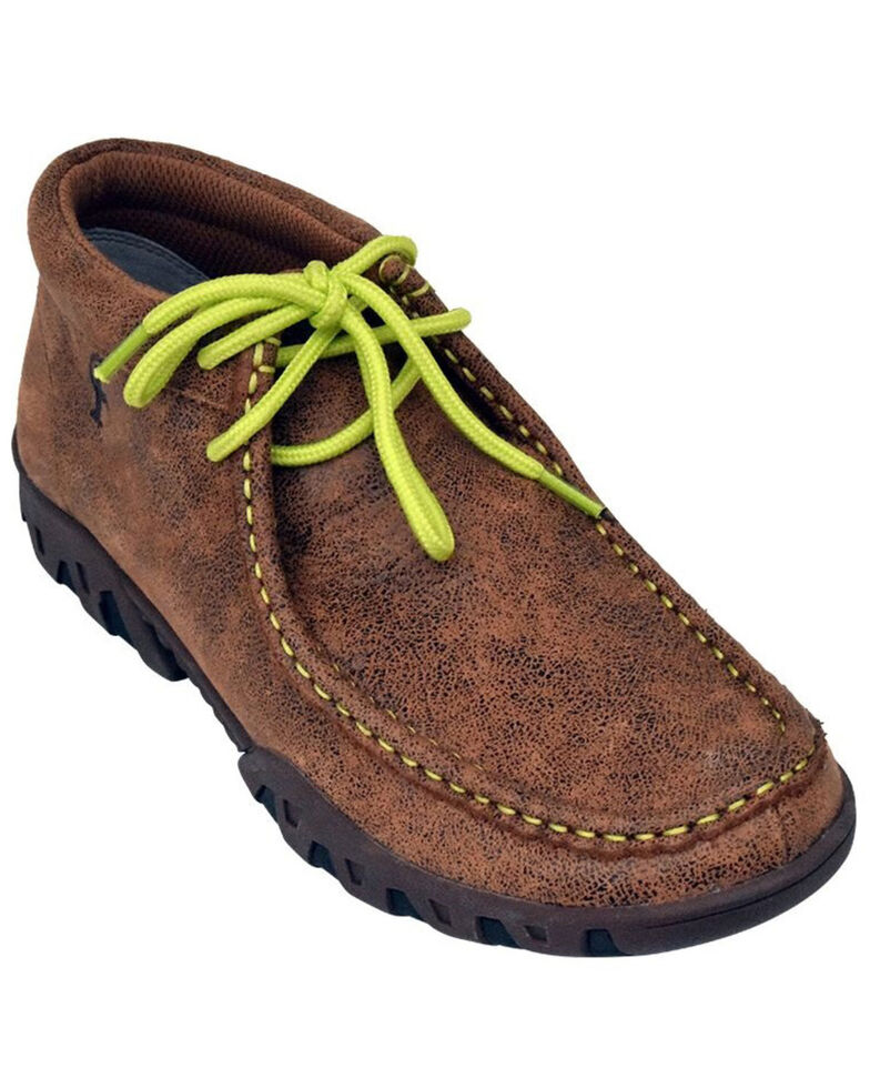 Ferrini Women's Rogue Lace-Up Shoes - Moc Toe, Brown, hi-res