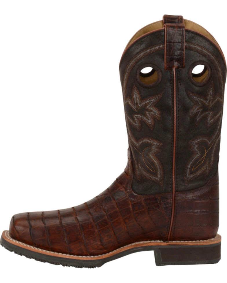 11a3c224ddf Double H Men's Croc Print Roper Work Boots - Steel Toe