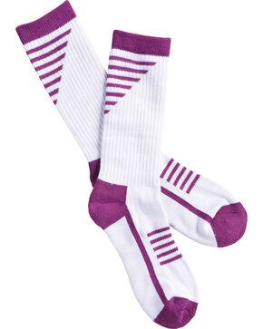 Shyanne Women's Purple Performance Socks with COOLMAX, Purple, hi-res