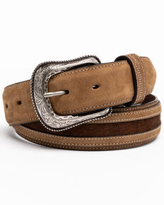 Cody James Men's Hair-On Praying Cowboy Concho Western Belt , Brown, hi-res