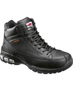 Avenger Men's Black Waterproof Lace-Up Work Boots - Composite Toe, Black, hi-res