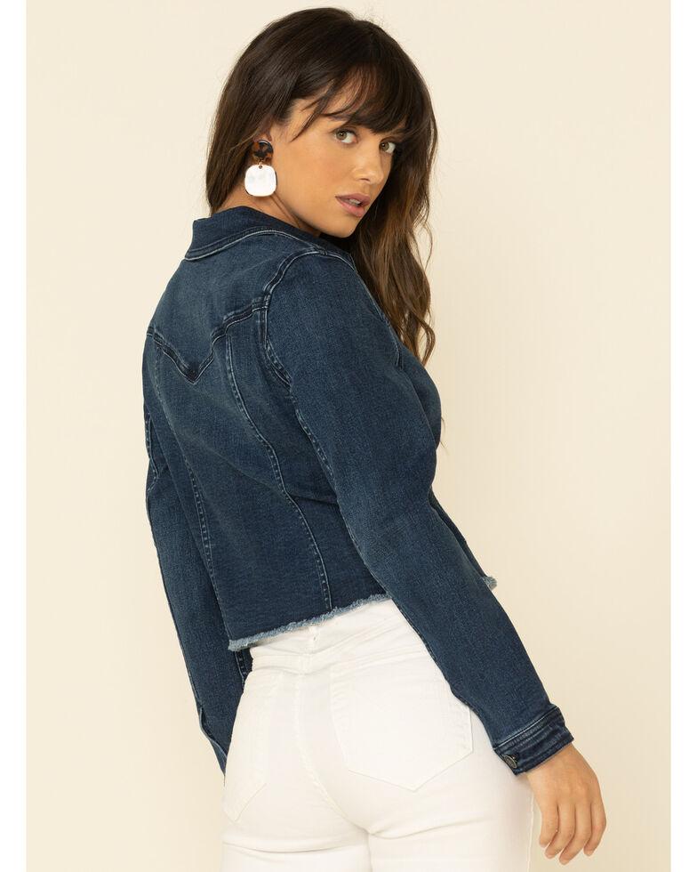 Shyanne Women's Dark Tucson Pintuck Denim Jacket , Medium Blue, hi-res
