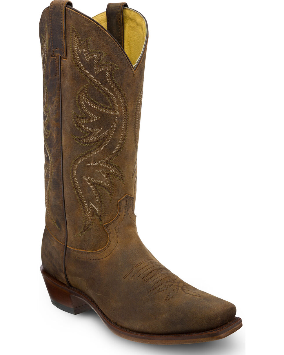 Justin Men's Apache Cowboy Boots - Square Toe, Brown, hi-res