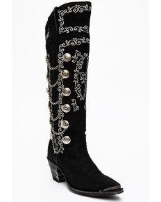 Dan Post Women's Chain Reaction Western Boots - Snip Toe, Black, hi-res