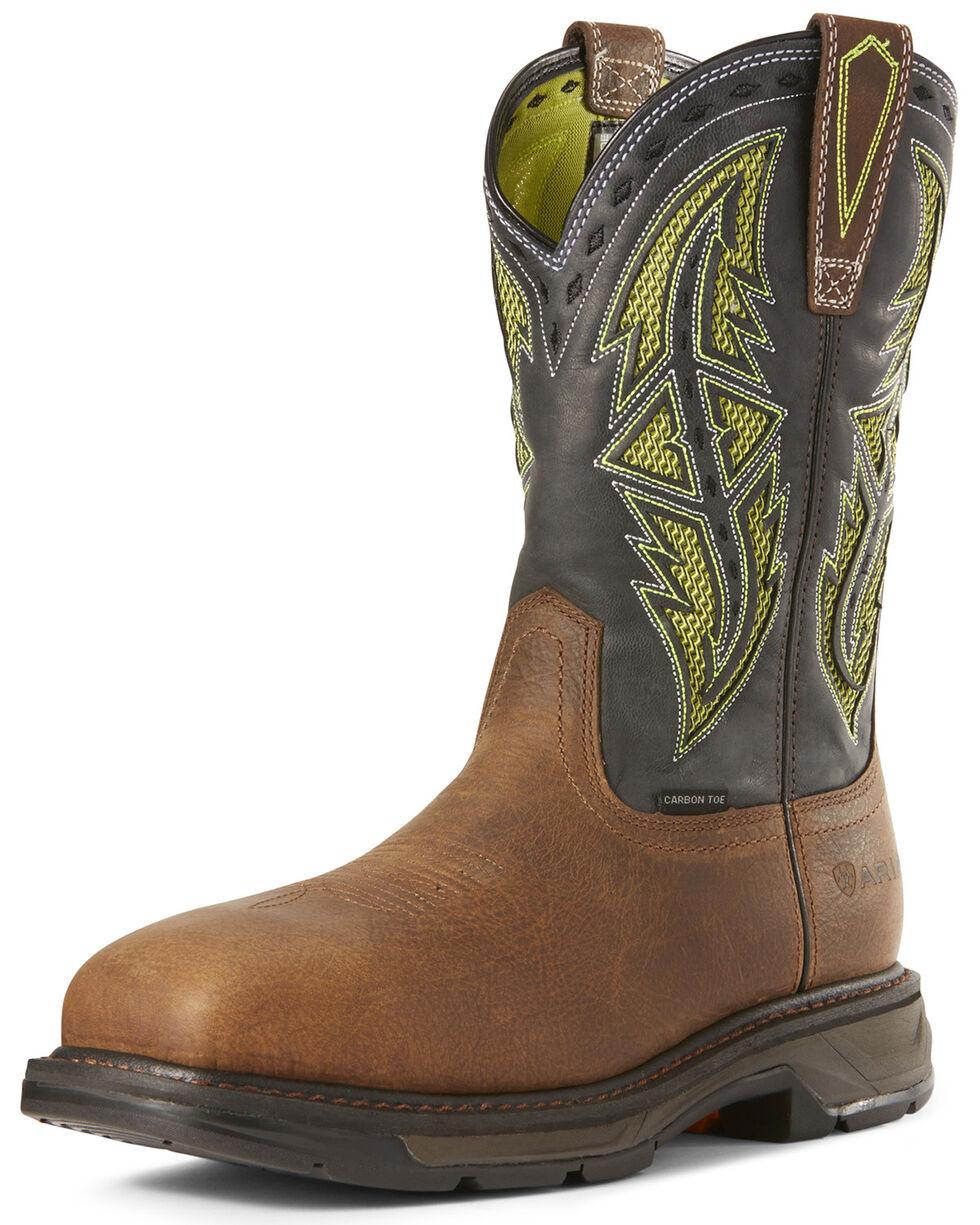 Ariat Men's Workhog XT VentTEK Western Work Boots - Carbon Toe, Brown, hi-res