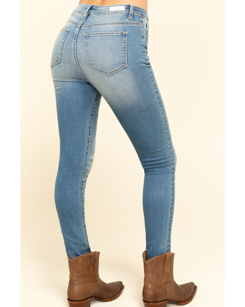 Miss Me Women's Light Wash High Rise Skinny Jeans , Blue, hi-res