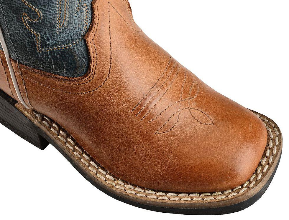 c86b2ded788 Old West Toddler Boys' Barnwood Cowboy Boots - Square Toe