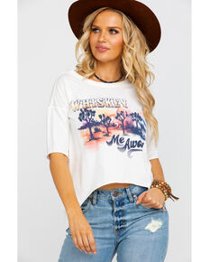 Shyanne Women's Whiskey Me Away Graphic Tee , Ivory, hi-res