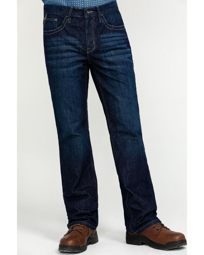 Cody James Men's FR Millikin Dark Slim Bootcut Work Jeans , Indigo, hi-res