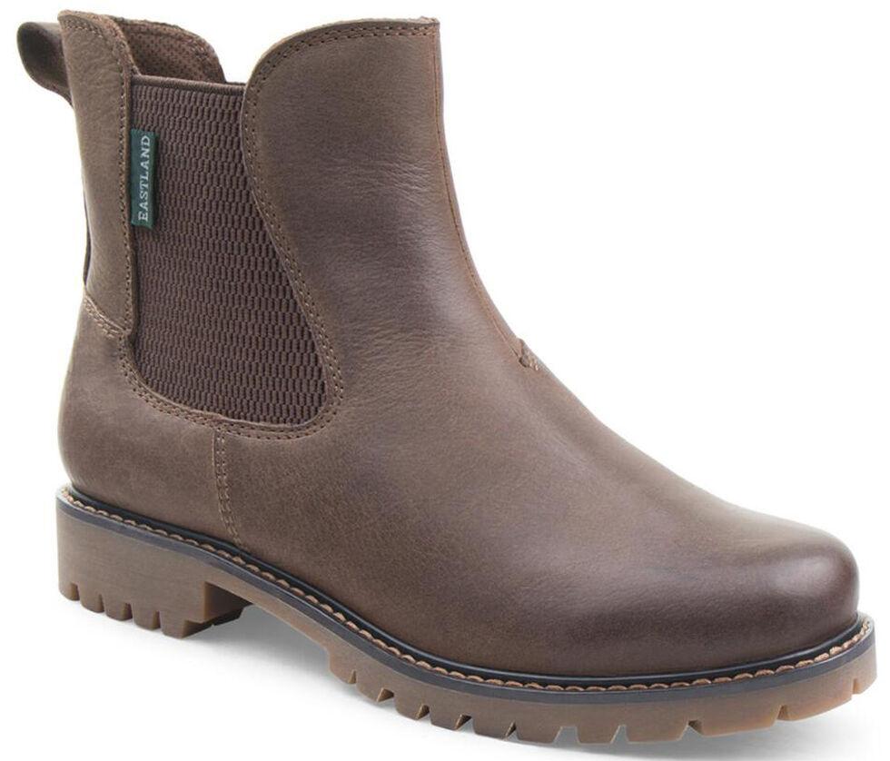Eastland Women's Dark Tan Ida Chelsea Boots , Brown, hi-res