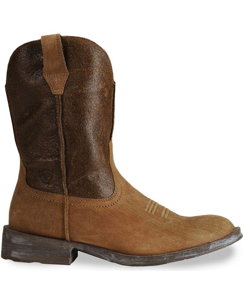 Ariat Rambler Cowboy Boots - Round Toe, Earth, hi-res