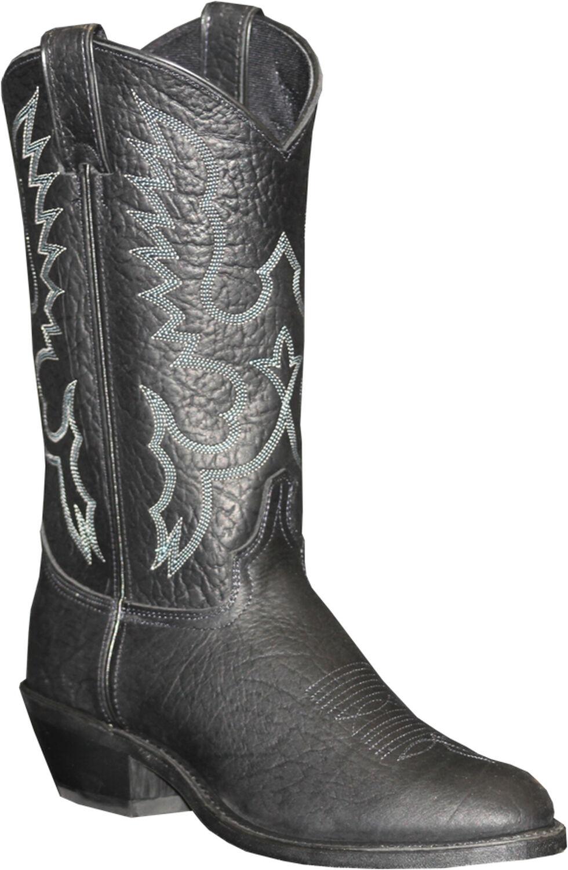 Abilene Sage Black Cowboy Boots - Medium Toe, Black, hi-res
