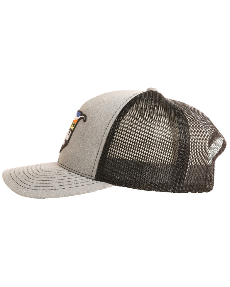Rock & Roll Denim Men's Steer and Stars Ball Cap, Grey, hi-res