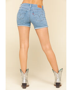 Levi's Women's Mid Length Shorts, Blue, hi-res
