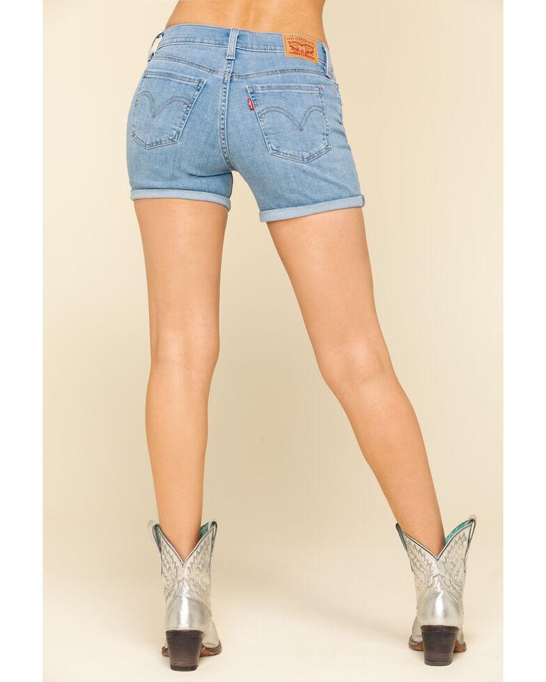 Levi's Women's Mid Length Shorts, Blue, hi-res
