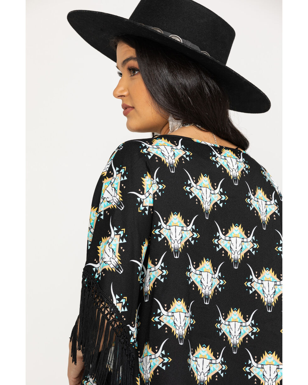 Ariat Women's Roadie Poncho Top, Multi, hi-res