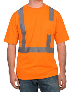 American Worker Men's Short Sleeve High Visibility T-Shirt, Orange, hi-res