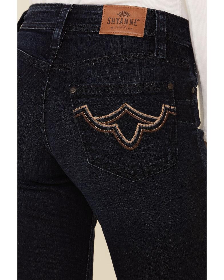 Shyanne Women's Dark Bootcut Riding Jeans, Dark Blue, hi-res