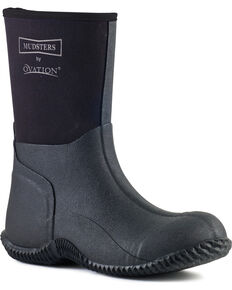 Ovation Women's Mudster Mid-Calf Barn Boots, Black, hi-res