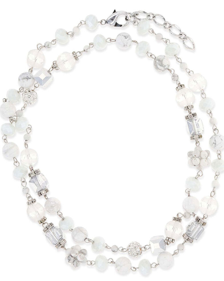 Montana Silversmiths Women's Snowy Rope Necklace, Silver, hi-res