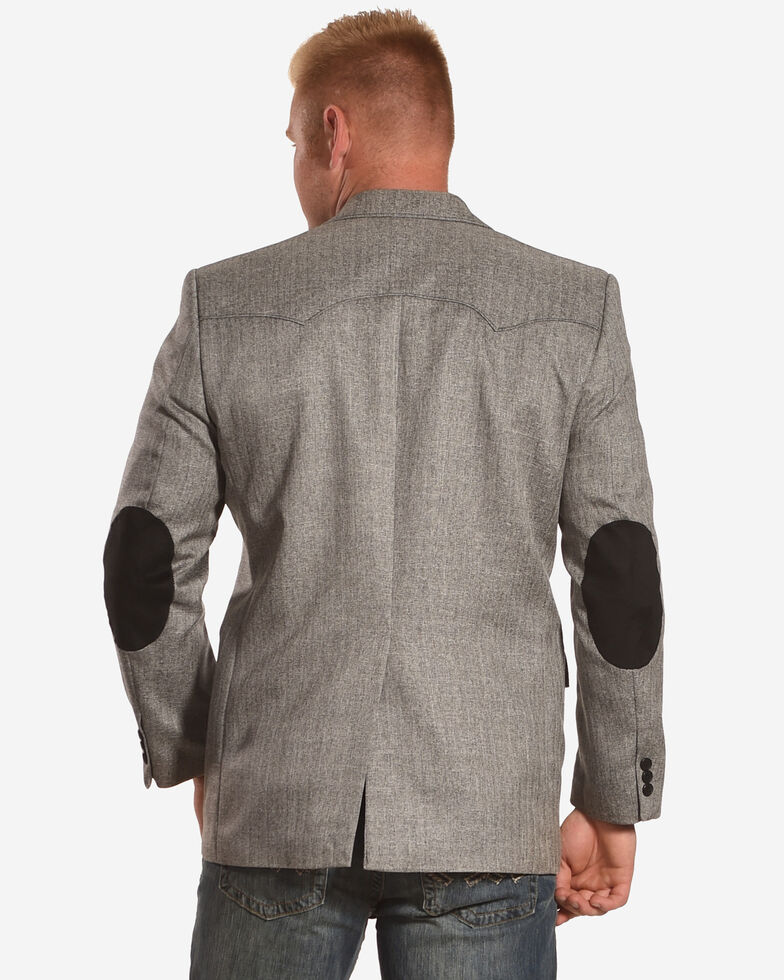 Circle S Men's Grey Herringbone Lubbock Sport Coat - Tall, Grey, hi-res