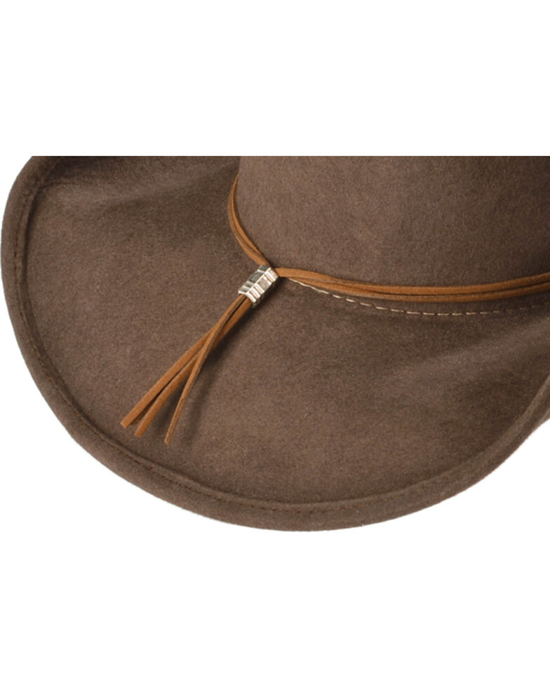 Bullhide Hats Women's State of Grace Felt Cowgirl Hat, Chocolate, hi-res